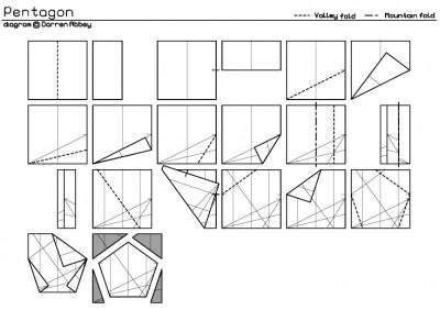 pentagon по сборке оригами цветок лотоса