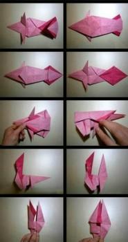 Фото схема сборки лошадка оригами