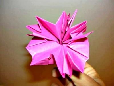Как собрать гвоздику оригами