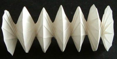 Как собрать оригами спираль