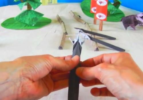 Копье оригами оружие из бумаги