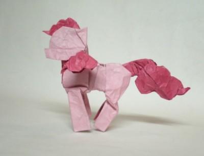Лошадка оригами
