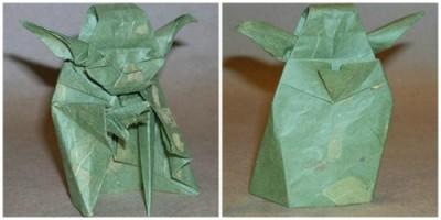 Мастер Йода оригами из бумаги мастер класс