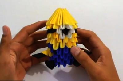 Мастер класс по сборке оригами модульное Миньон