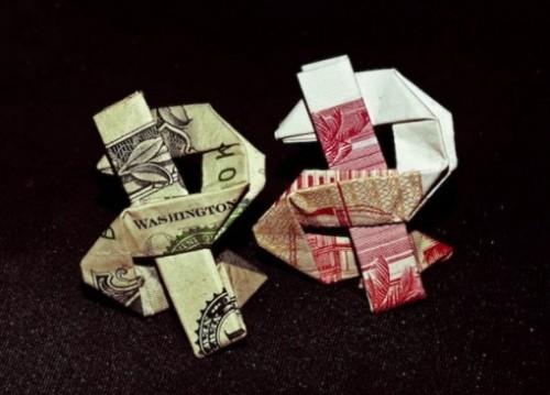Moneygami Доллар за схемой Эндрю Ансельмо