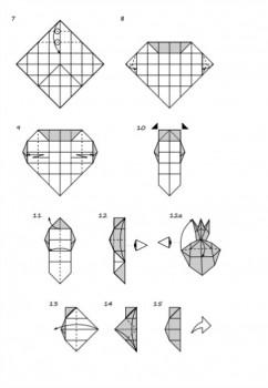 Оригами Лиса схема сборки