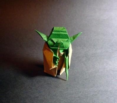 Оригами Мастер Йода за схемой Fumiaki Kawahata