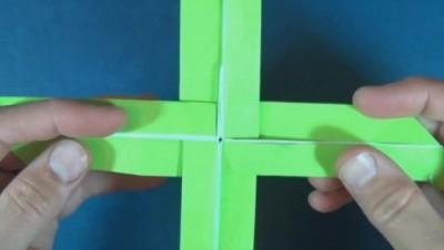 Оригами бумеранг двойной
