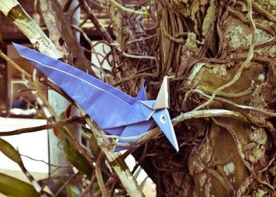 Оригами Динозавр Птеранодон из бумаги