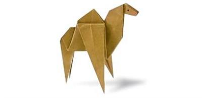 Оригами для детей Верблюд