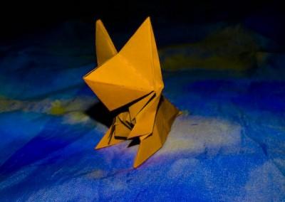 Оригами из бумаги Лиса