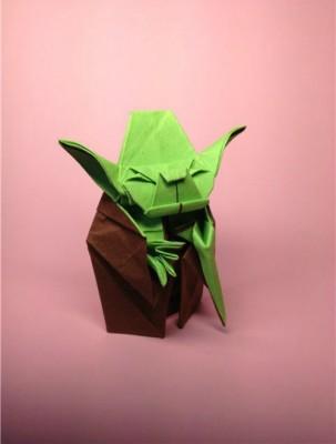 Оригами из бумаги Мастер Йода схема сборки