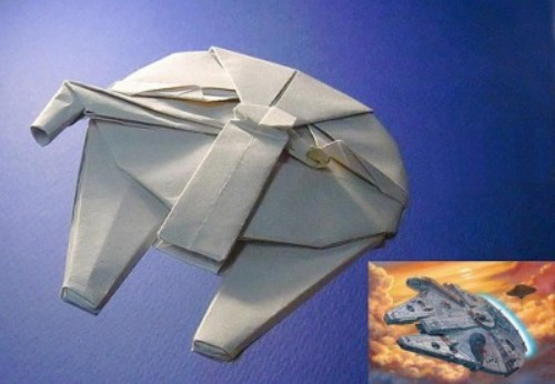 Оригами корабль Millennium Falcon из фильма Star Wars