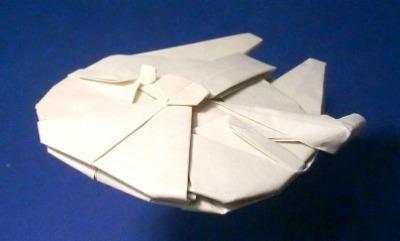 Оригами корабль Millennium Falcon
