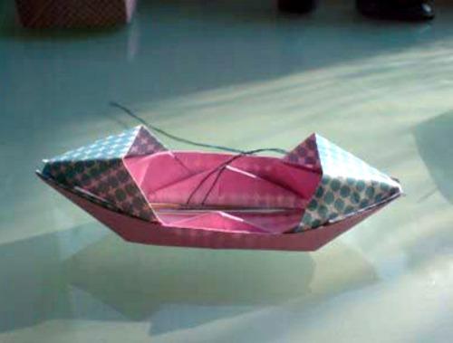 Оригами лодка за схемой Jo Nakashima