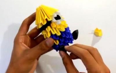 Оригами модульное Миньон схема сборки
