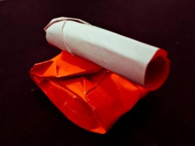 Оригами танк схема