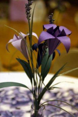 Видео-схема оригами цветок Ириса от мастера Tadashi Mori