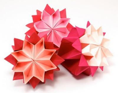 Оригами цветок кусудама