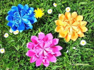 Оригами цветок схема сборки видео мастер класс