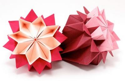 Оригами цветы кусудама