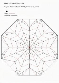 Паттерн по сборке оригами Звезда Infinity за схемой Francesco Guarnieri