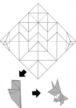 Паттерн сборки Лисы оригами