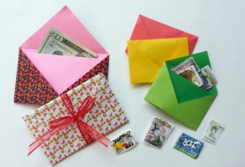 Простой конверт оригами мастер-класс