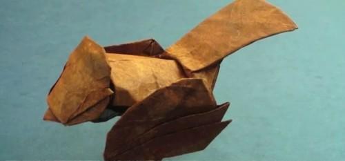 Птичка из бумаги оригами