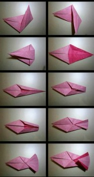 Схема складывания оригами пони