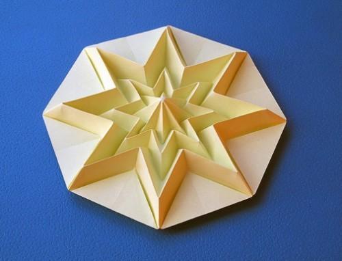 Звездочка оригами Infinity за схемой Francesco Guarnieri