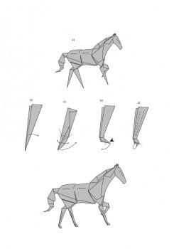 Бумажная лошадь от J. An?bal Voyer схема