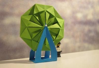 Чертово колесо скачать оригами из бумаги схемы