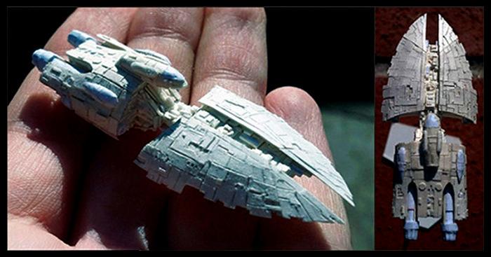 David Canavese собрал оригами скульптуры Звездные войны