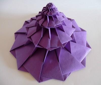 Фото башни цветка оригами