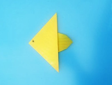 Фото схема сборки Оригами рыбка вариант 2