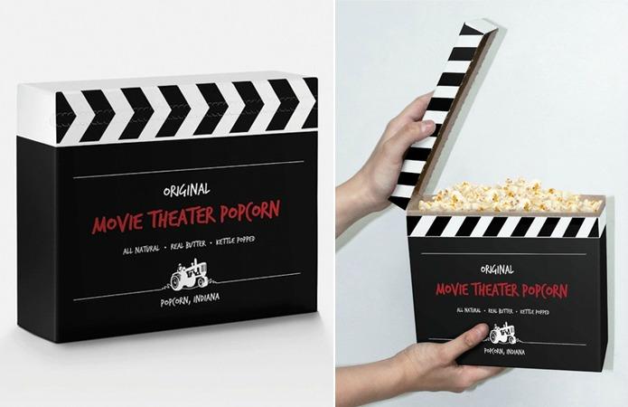 Frank Anselmo. Упаковка для попкорна «кино-хлопушка»