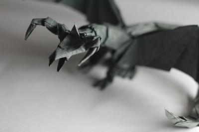 Как сделать оригами дракона за схемой Tadashi Mori