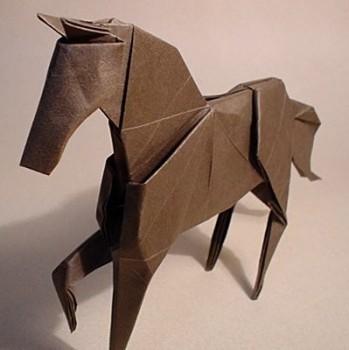 Как сделать оригами лошадь от Hideo Komatsu