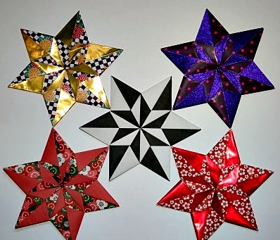 Как сделать звездочку оригами схема