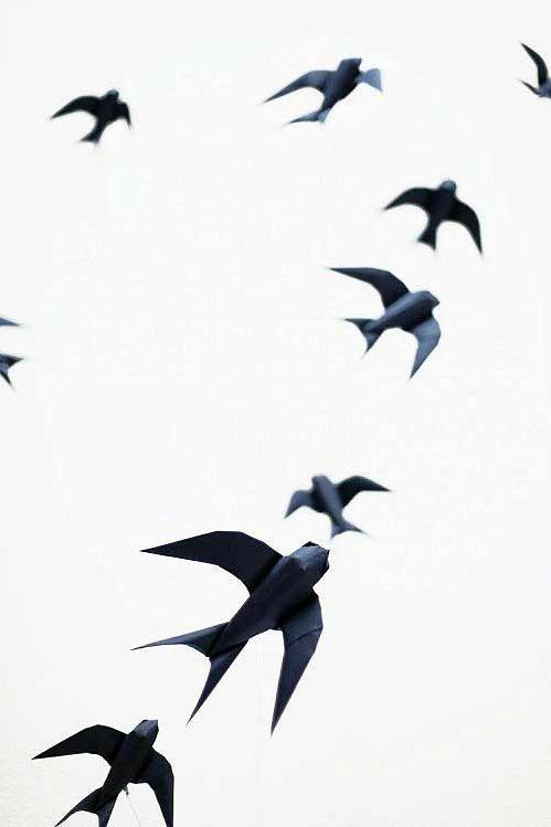 Как собрать ласточку оригами схема