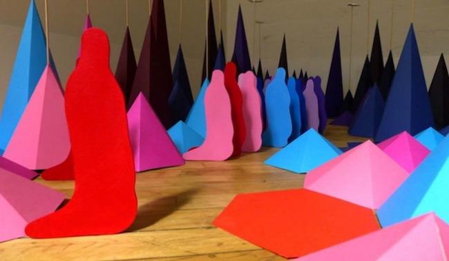 Необычная инсталляция оригами от Мадемуазель Морис и Сары Апплбаум