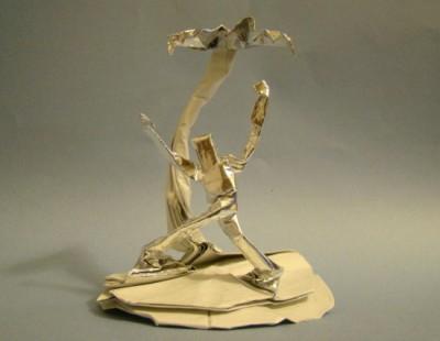 Оригами человек за схемой Jeremy Shafer