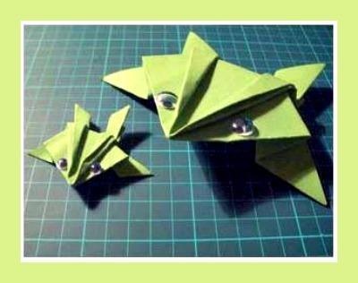 Оригами для детей лягушка