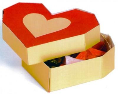 Оригами из бумаги коробочка сердце