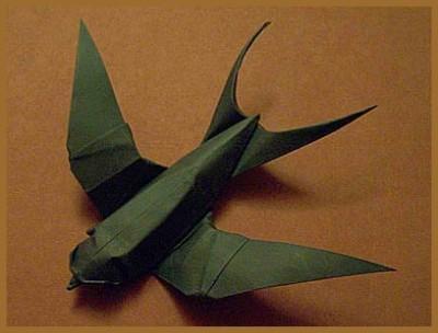 Оригами ласточка схема сборки