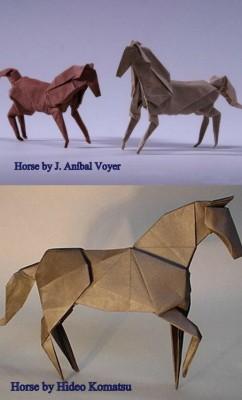 Оригами лошадь мастер-класс