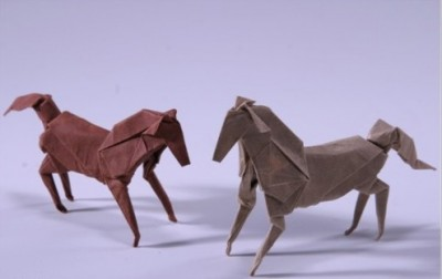 Оригами лошадь за схемой  от J. An?bal Voyer и Hideo Komatsu