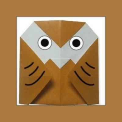 Оригами птица сова оригами