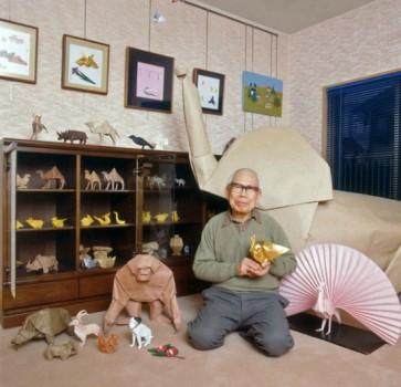 Оригами розочка от Akira Yoshizawa